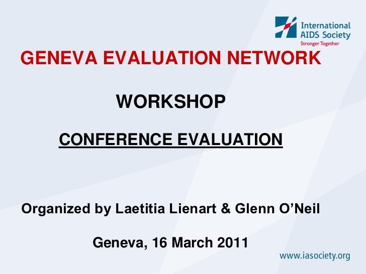 Conference evaluation at a glance