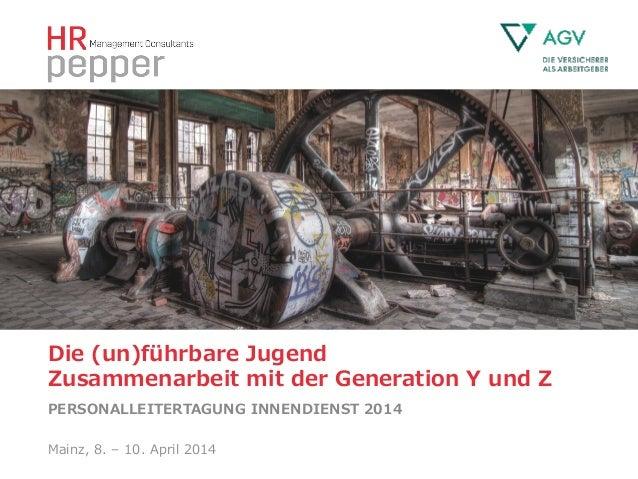Die (un)führbare Jugend             Zusammenarbeit mit der Generation Y und Z PERSONALLEITERTAGUNG INN...