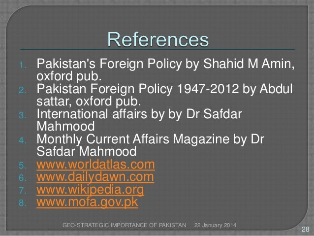 geo political importance of pakistan Why is geopolitics important expert presentations egf such terms are charged with political emotion and should be employed with caution when applied.