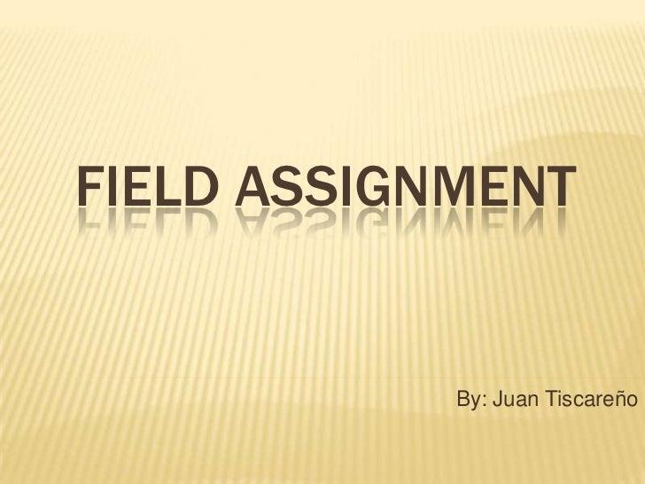 Geo 1 field assignment