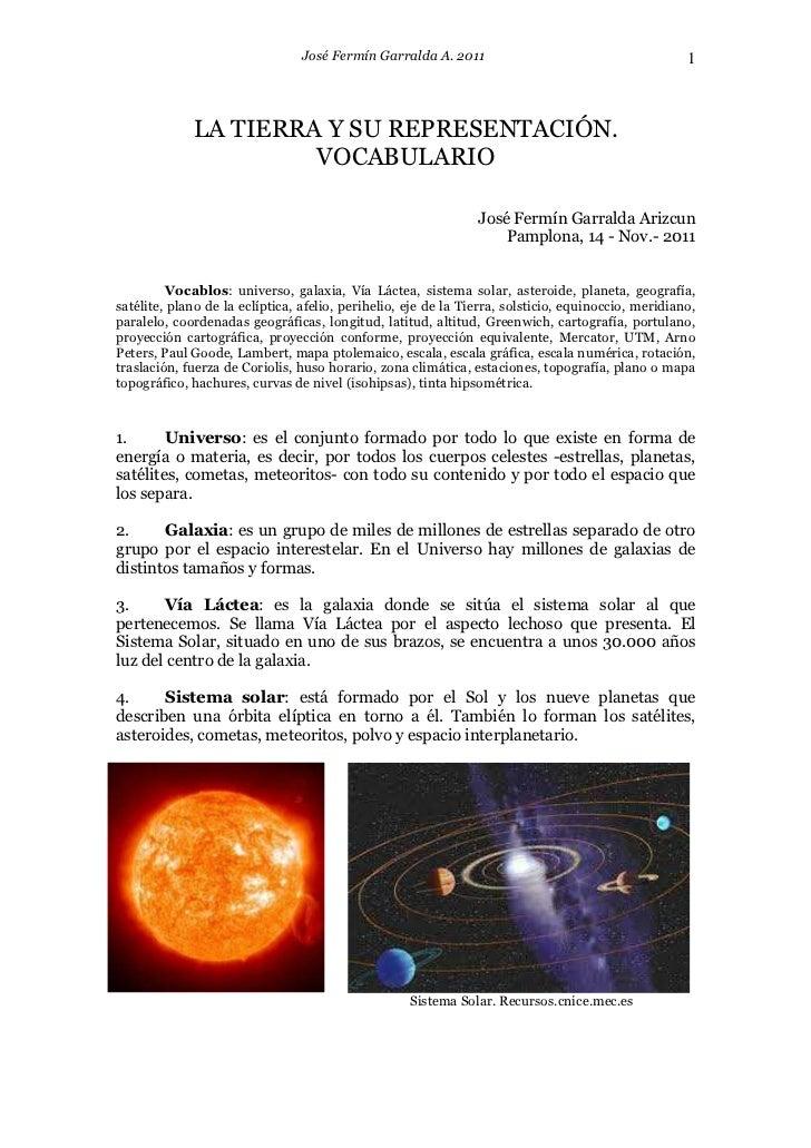 José Fermín Garralda A. 2011                                        1             LA TIERRA Y SU REPRESENTACIÓN.          ...