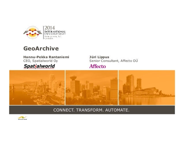 FME Usage in GeoArchive, Geodetic Survey Process Management