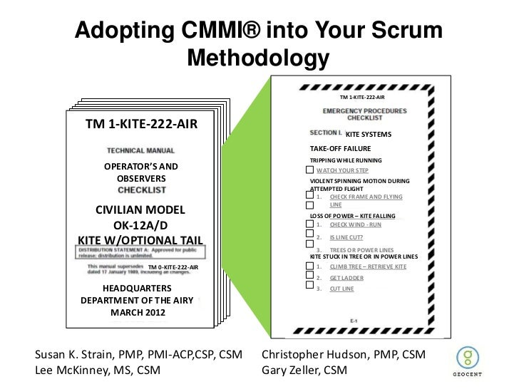 Adopting CMMI® into Your Scrum                Methodology                                                           TM 1-K...