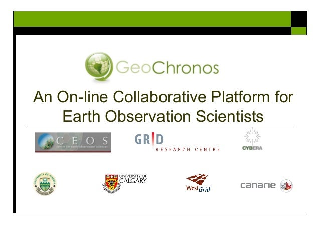 An On-line Collaborative Platform for Earth Observation Scientists