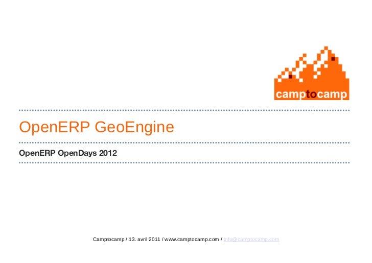 OpenERP - Geoengine, Camtocamp