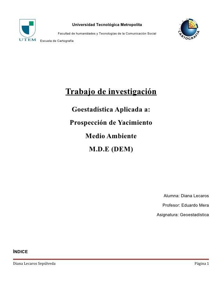 Universidad Tecnológica Metropolita                            Facultad de humanidades y Tecnologías de la Comunicación So...