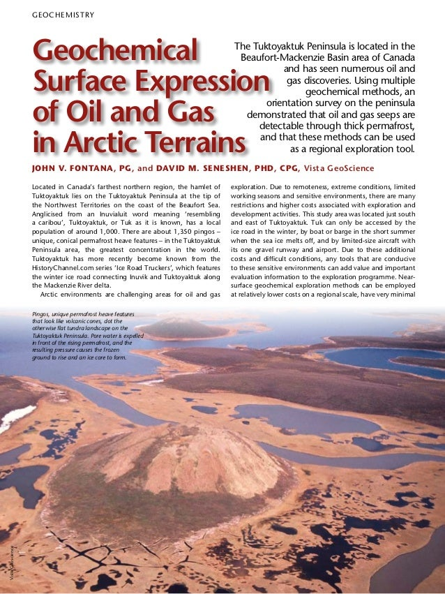 Geochemical Surface Expression of Oil and Gas in Arctic Terrains