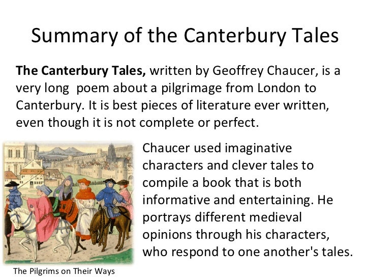 A literary analysis of the canterbury tales by geoffrey chaucer