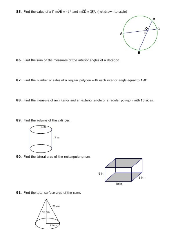 Geo final exam review - What is the exterior angle of a decagon ...