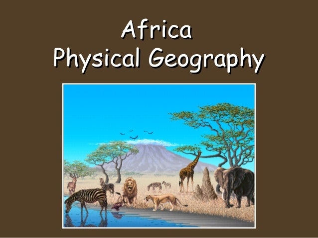 Geog. of africa