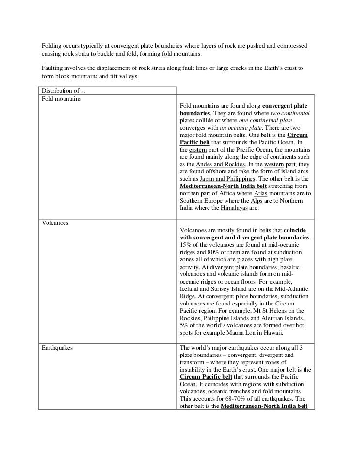 Physical GEOG: Chapter 4 - Plate Movements