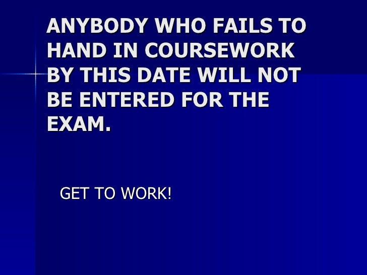 Coursework help anybody?