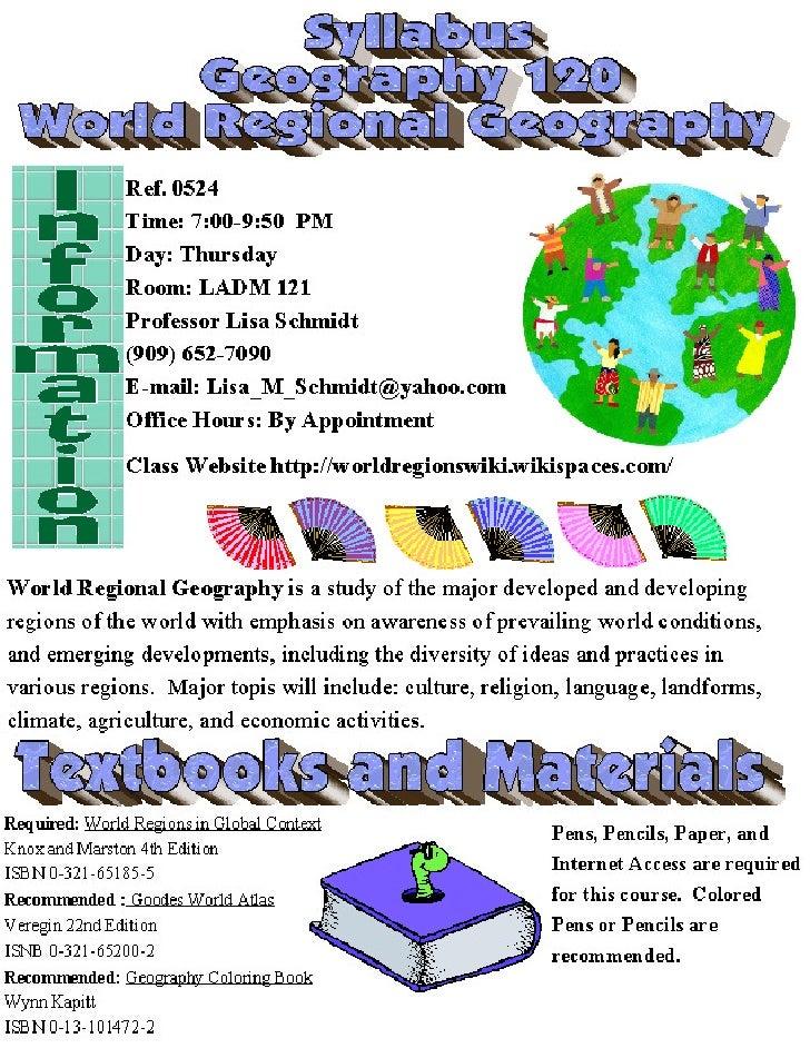 Geog 120 syllabus