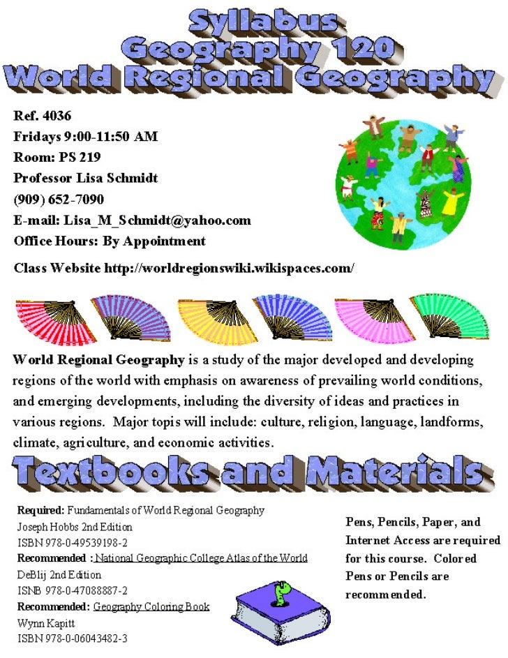 Geog 120 syllabus sp 2012