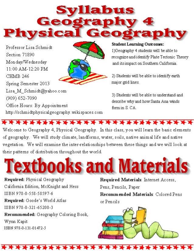 Geog 4 syllabus 2013