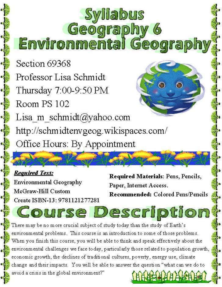 Geog 6 syllabus