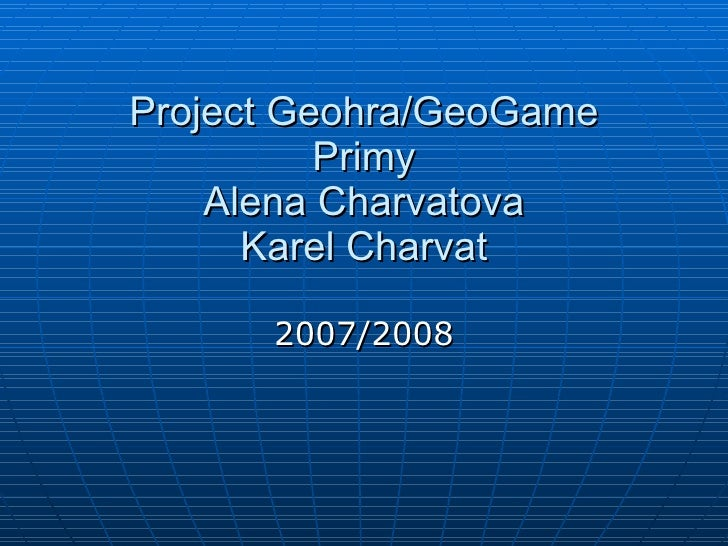 Geogame  experience from secondary school