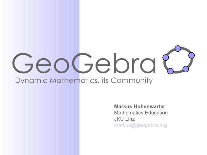 Geogebra Slideshow