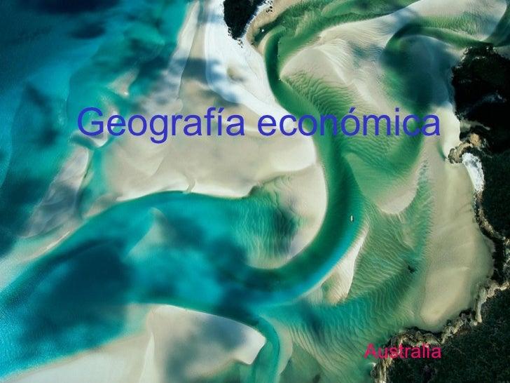 Geografía económica              Australia