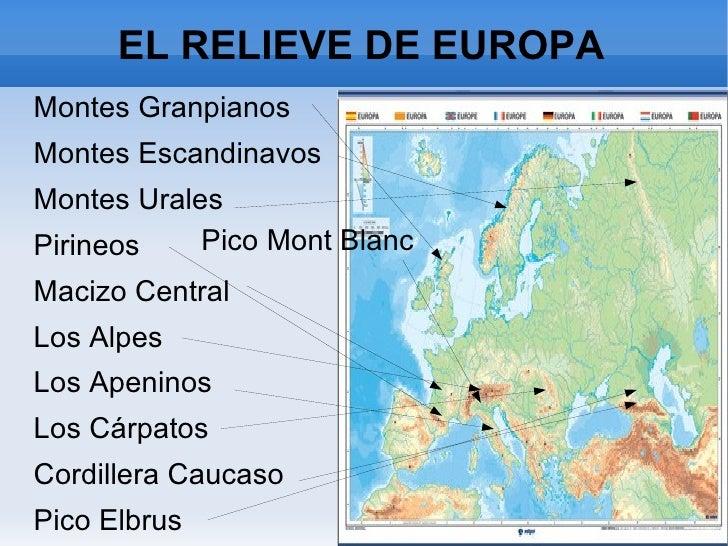 EL RELIEVE DE EUROPA <ul><li>Montes Granpianos