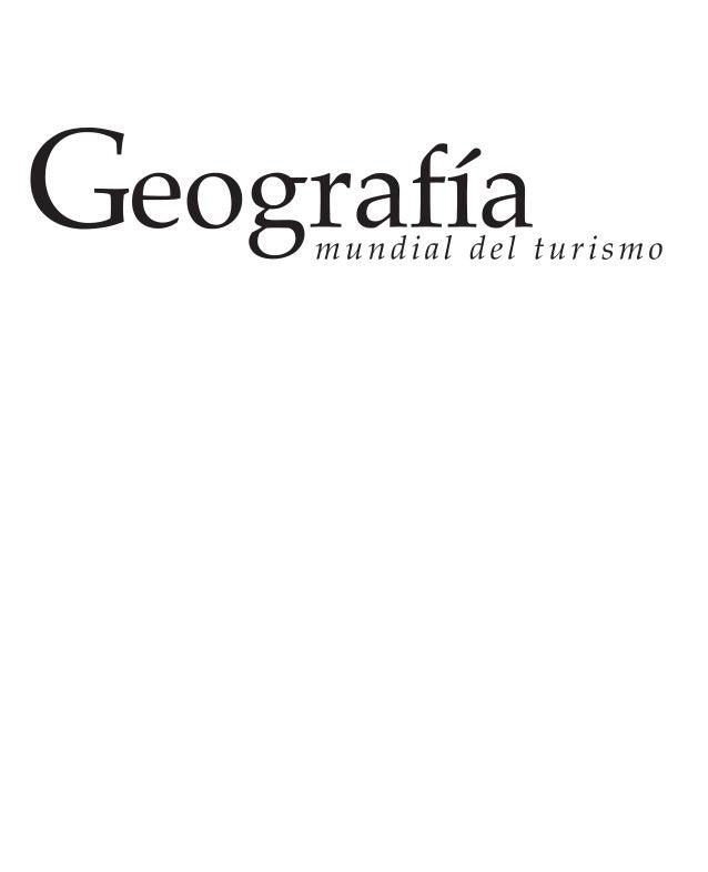 geografia mundial del turismo pdf