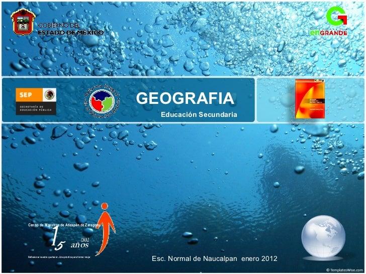 Geografía secundaria 2011