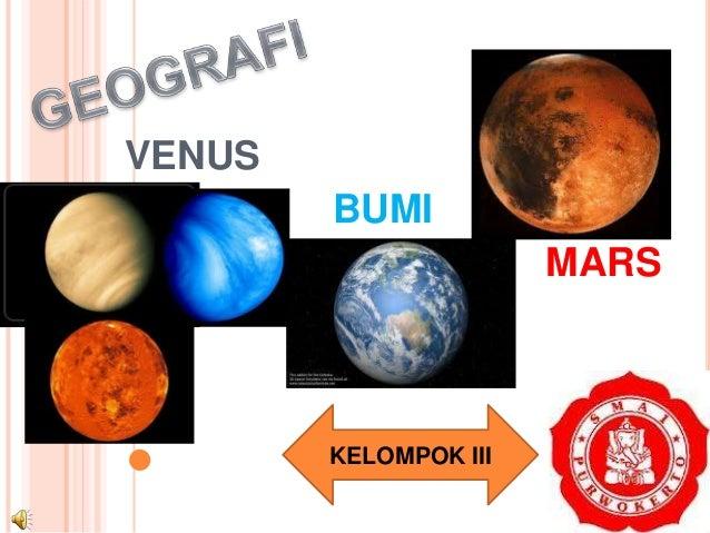 Geografi kelas x semester 1 Venus Bumi Mars