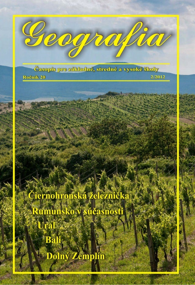 Časopis Geografia, ročník 20, číslo 2/2012