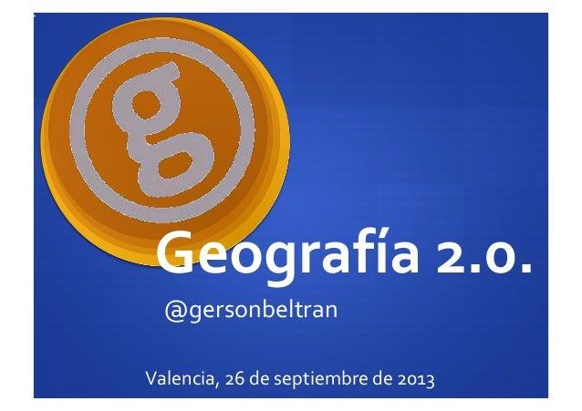 Geografía 2.0