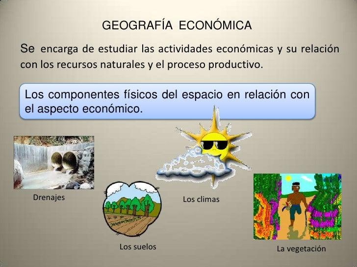 geografia economicas: