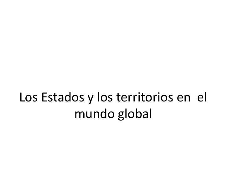 Geografia estado y territorio 2012