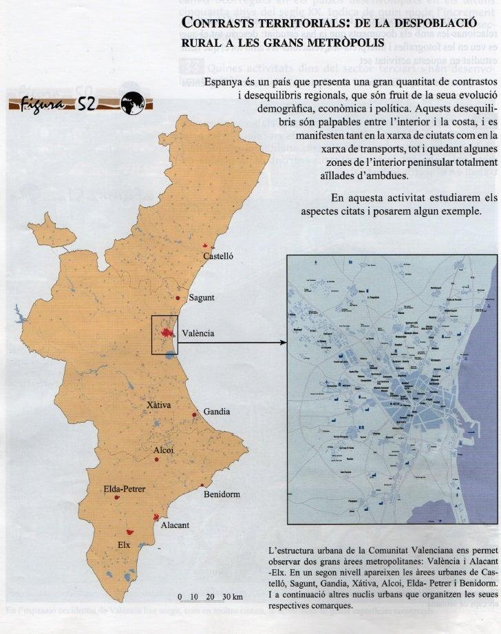 Geografia Gea Clio 3 Xarxa Urbana Comunitat  Valenciana