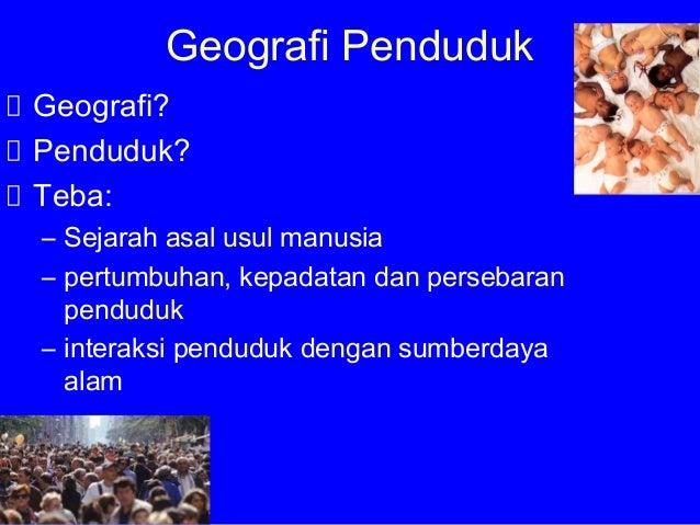 Geografi Penduduk