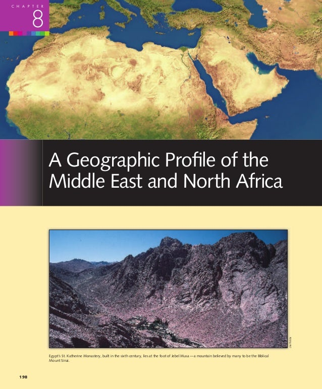 C H A P T E R         8                A Geographic Profile of the                Middle East and North Africa             ...