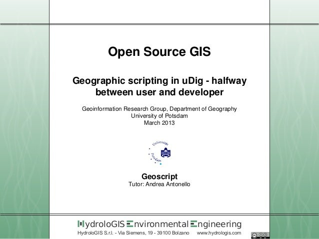 04 Geographic scripting in uDig - halfway between user and developer