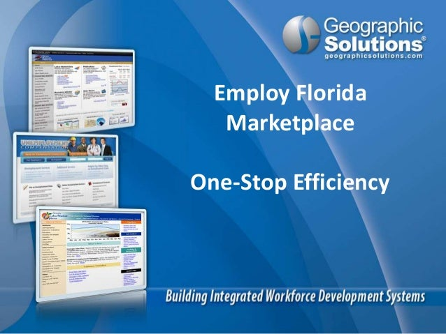 Geographic solutions one stop efficiency presentation