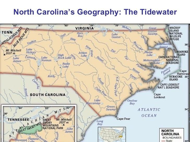 North Carolina Geography: The Tidewater Region