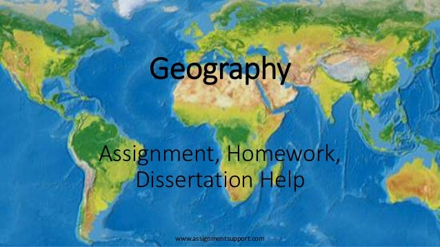 geography dissertation help