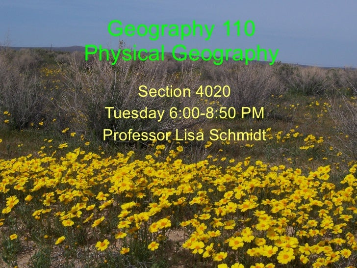 Geography 110 intro