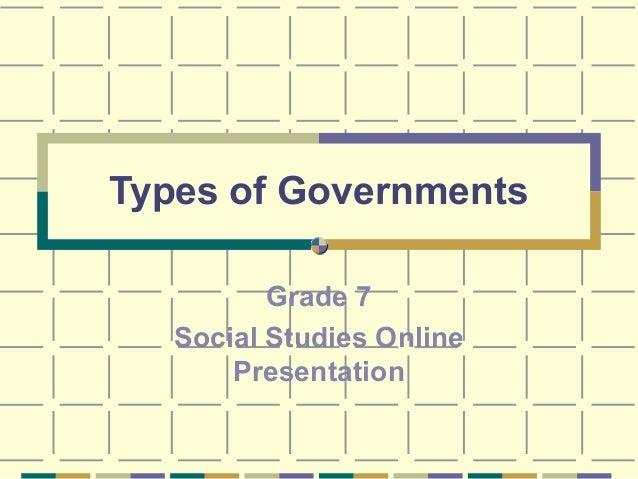 Geography 7th gov types