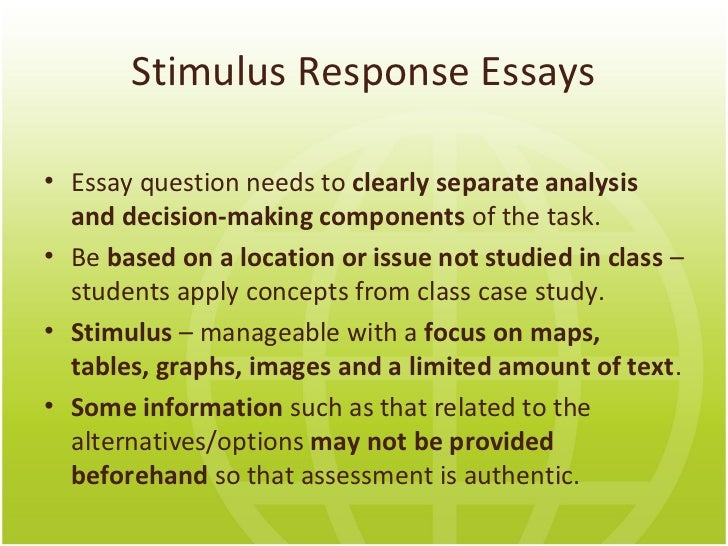 response to an essay