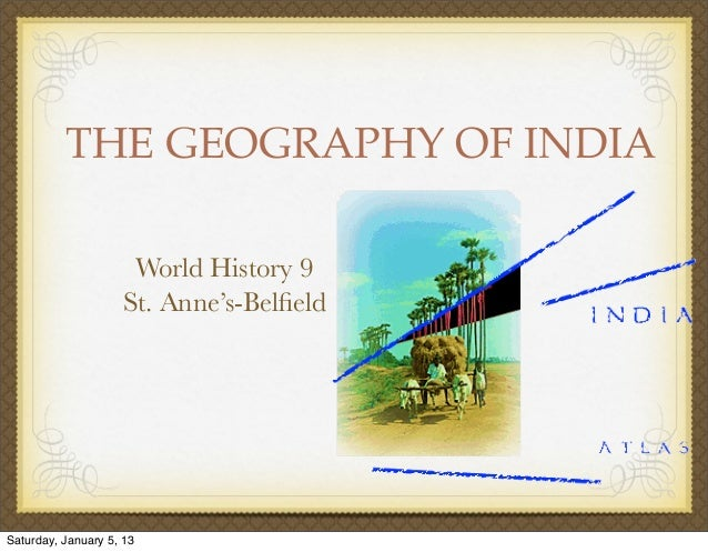 Geography of india 1213