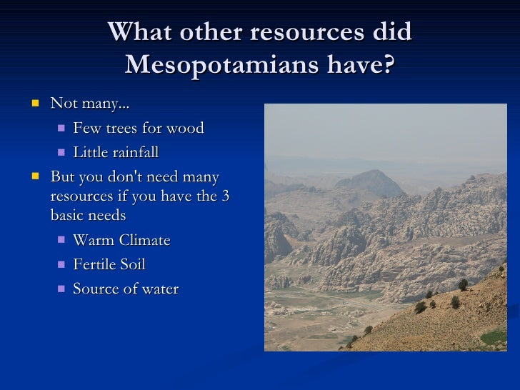What Natural Resources Does Ancient
