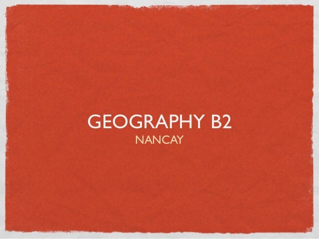 Geography people and the planet revision B2
