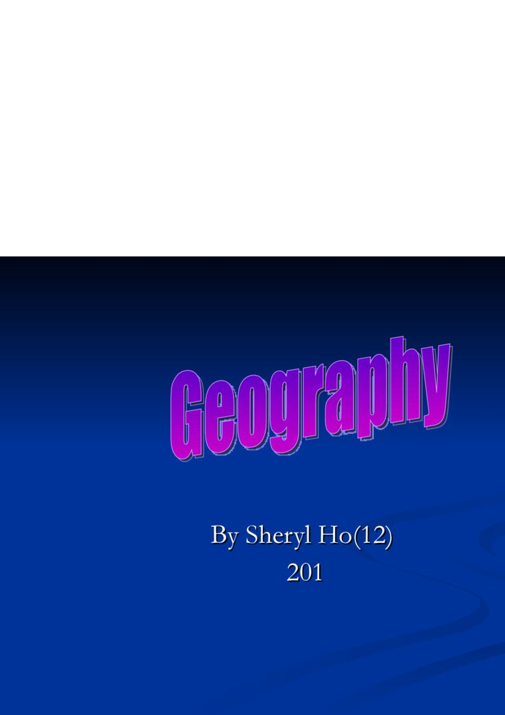 Geography ppt(my favourite subject)