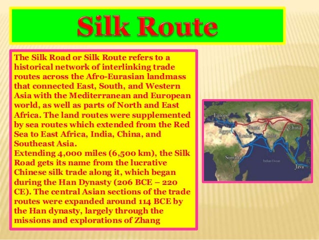 geography ppt silk road