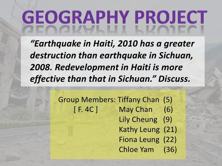 Geography Project about Earthquakes