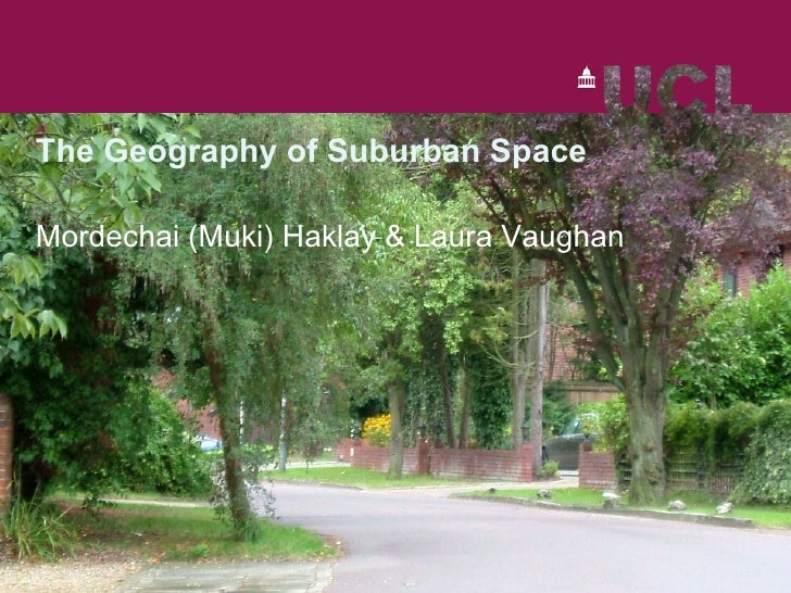 Geography Suburban Space Introduction
