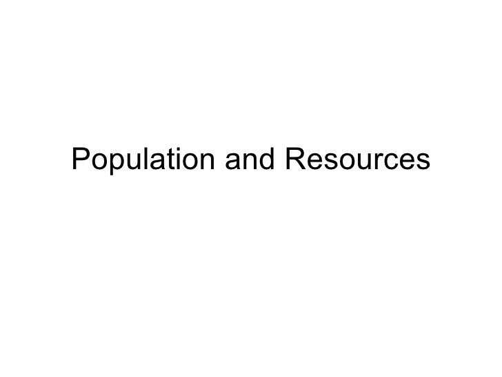 Geography work on popuation and resources
