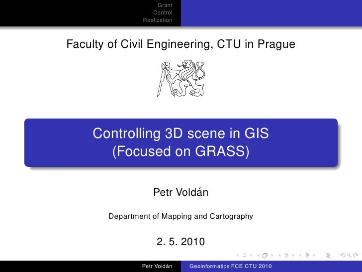 Grant                   Control                Realization    Faculty of Civil Engineering, CTU in Prague         Controll...